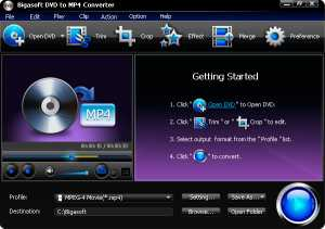 Bigasoft DVD to MP4 Converter