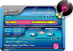 Download Bigasoft iPhone Ringtone Maker