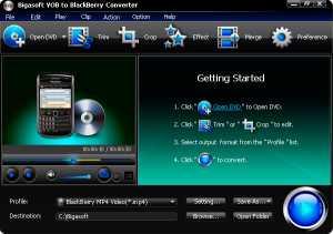 Bigasoft VOB to BlackBerry Converter