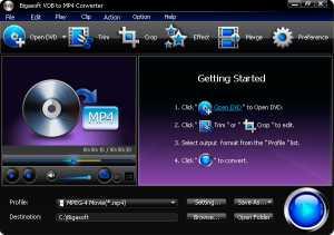 Bigasoft VOB to MP4 Converter