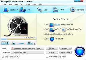 Bigasoft Zune Video Converter