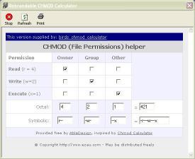 Download birds chmod calculator