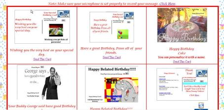 Download Birthday eCards with Your Personal Voice