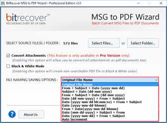 BitRecover MSG to PDF Wizard