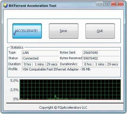 Download BitTorrent Acceleration Tool