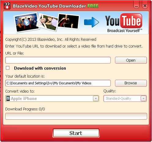 BlazeVideo Free YouTube Downloader