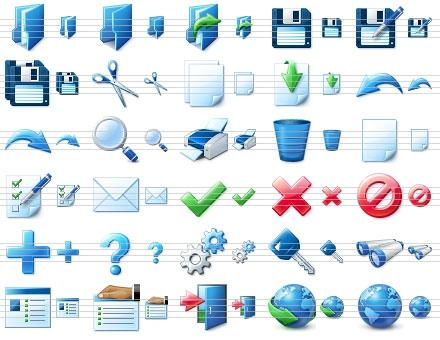 Download Blue Icon Library
