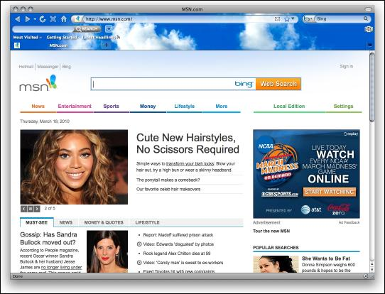 Download Blue Sky Firefox Interactive Theme