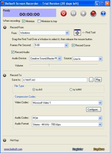 Boilsoft Screen Recorder