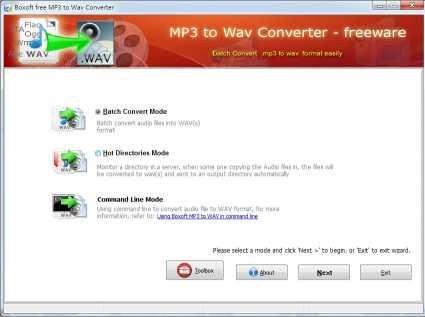 Boxoft MP3 to WAV Converter (freeware)