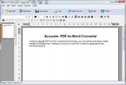 Boxoft PDF to DOC Converter
