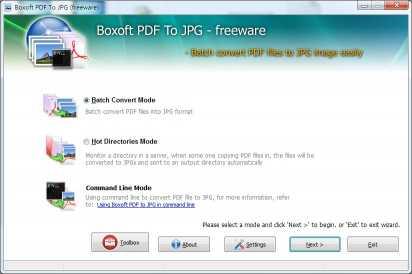 Boxoft PDF To JPG Converter (freeware)
