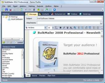 Download BulkMailer Professional