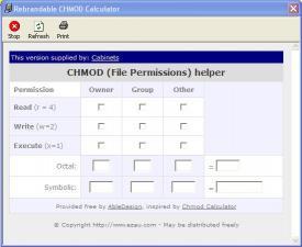 Download Cabinets CHMod Calculator