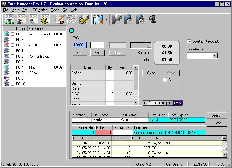 Cafe Manager Pro for Internet Cafes - standaloneinstaller com