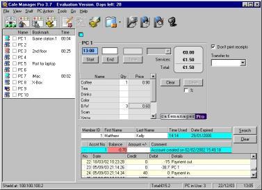 Download Cafe Manager Pro for Internet Cafes