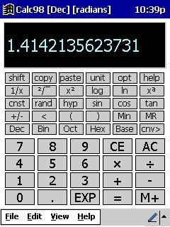 Download Calc98 for Windows Mobile