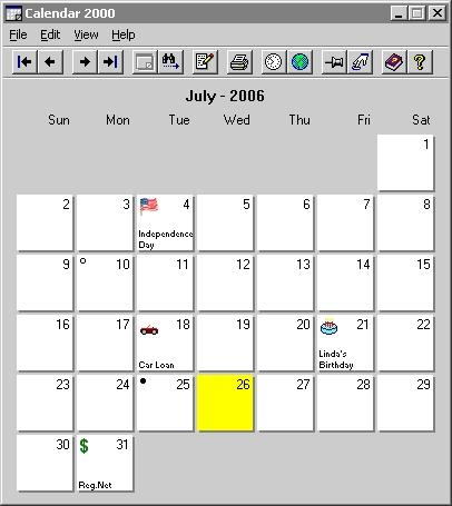 Download Calendar 2000