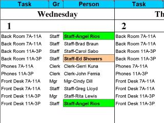 Download Calendar 50 People to Tasks With Excel