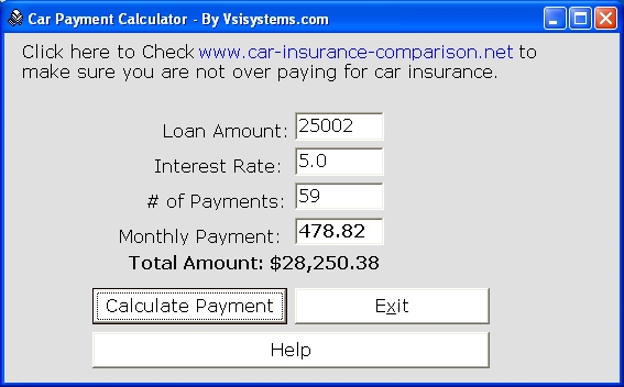 car payment calculator buddy