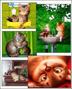 Download Cartoon Cats Screensaver 2