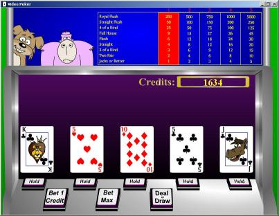 Download Casino Game Critters - Video Poker