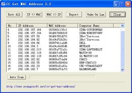 Download CC Get MAC Address