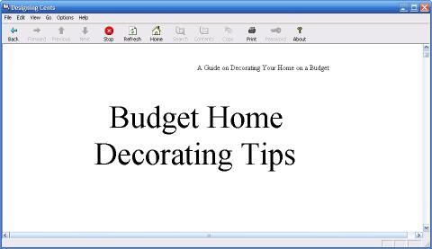 Download Cheap Home Decorations