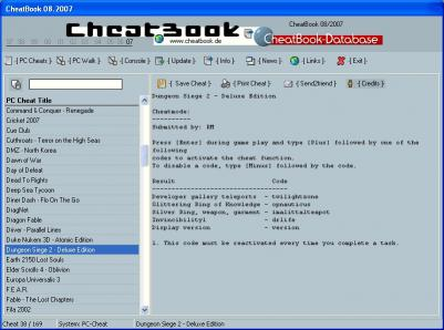 Download CheatBook Issue 08/2007