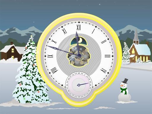 Download Christmas Clock ScreenSaver