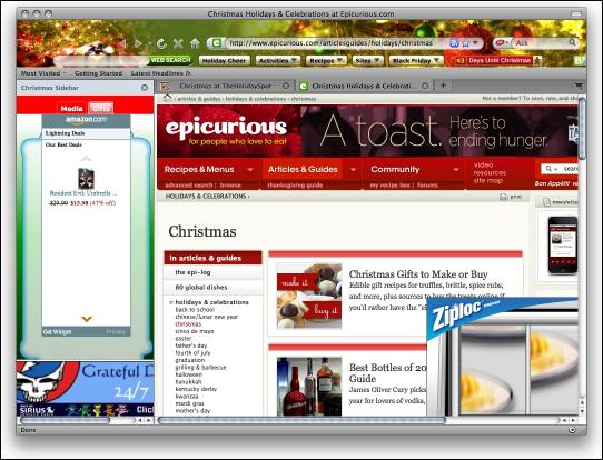 Download Christmas Firefox Interactive Theme
