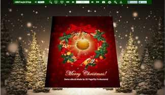 Christmas Tree Theme for 3D FlipMagazine