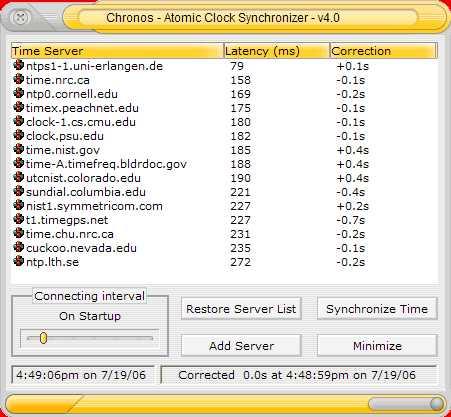Download Chronos Atomic Clock Synchronizer