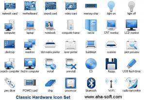 Download Classic Hardware Icon Set