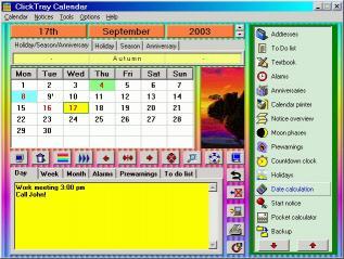 Download Click Tray Calendar