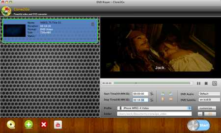 Clone2Go DVD to MP4 Converter for Mac
