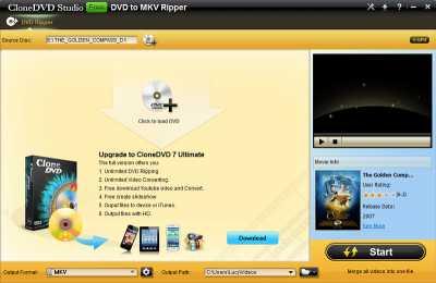 CloneDVD Studio Free DVD to MKV Ripper