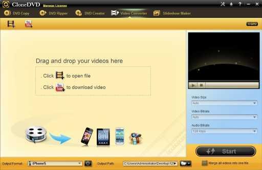 CloneDVD Studio Video Converter