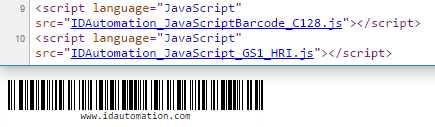 Code-128 GS1-128 JavaScript Generator
