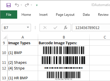 Code-128 Native Excel Barcode Generator by IDAutomation