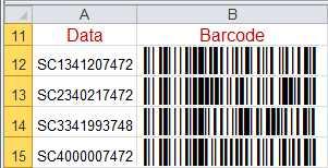 Code 128 Universal Barcode Font