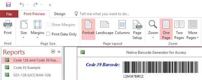 Code 39 Native Access Barcode Generator