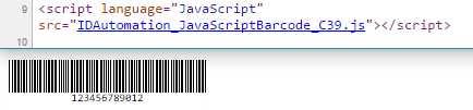 Code39 HTML5 JavaScript Generator