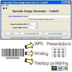 Download Code93 barcode prime image generator