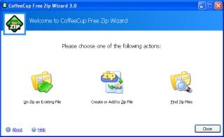 Download CoffeeCup Free Zip Wizard