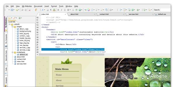 Download CoffeeCup HTML Editor