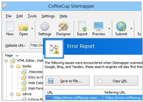 Download CoffeeCup Sitemapper