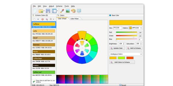 Download CoffeeCup Website Color Schemer