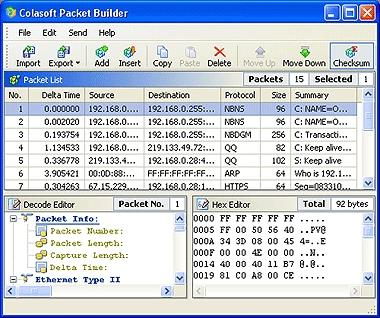 Download Colasoft Packet Builder