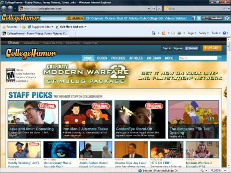 Download College Humor IE Browser Theme